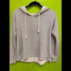 O'Neill Cotton Hoodie Gray and White Stripe Size S
